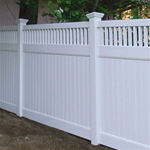 Victorian White Washed Classic Fence