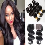 8A Brazilian Bodywave Bundle Deal With Closure  {CLICK HERE FOR LENGTH AHD  PRICES}