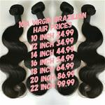 10A virgin brazillian 18 inch body wave bundle