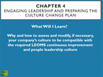 TR008 Chapter 4 Engaging Leadership and Preparing the Culture Change Plan Training Presentation