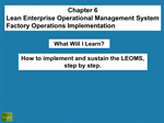 TR010 LEOMS Factory Operations Implementation