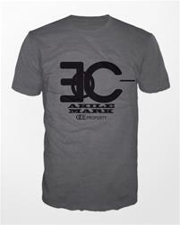 Akile Mark Grey T-Shirt with Black Logo