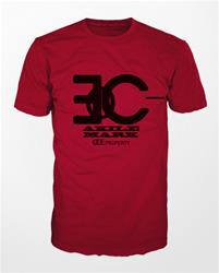 Akile Mark Red T-Shirt with Black Logo