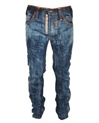 Akile Mark Regular Blue Wash Jeans