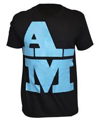 Akile Mark A-M Black Cotton T-Shirt