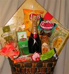 Anniversary Gift Basket with Champagne