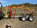 Log loader and trailer Perfect size for 30-40 HP compact tractors