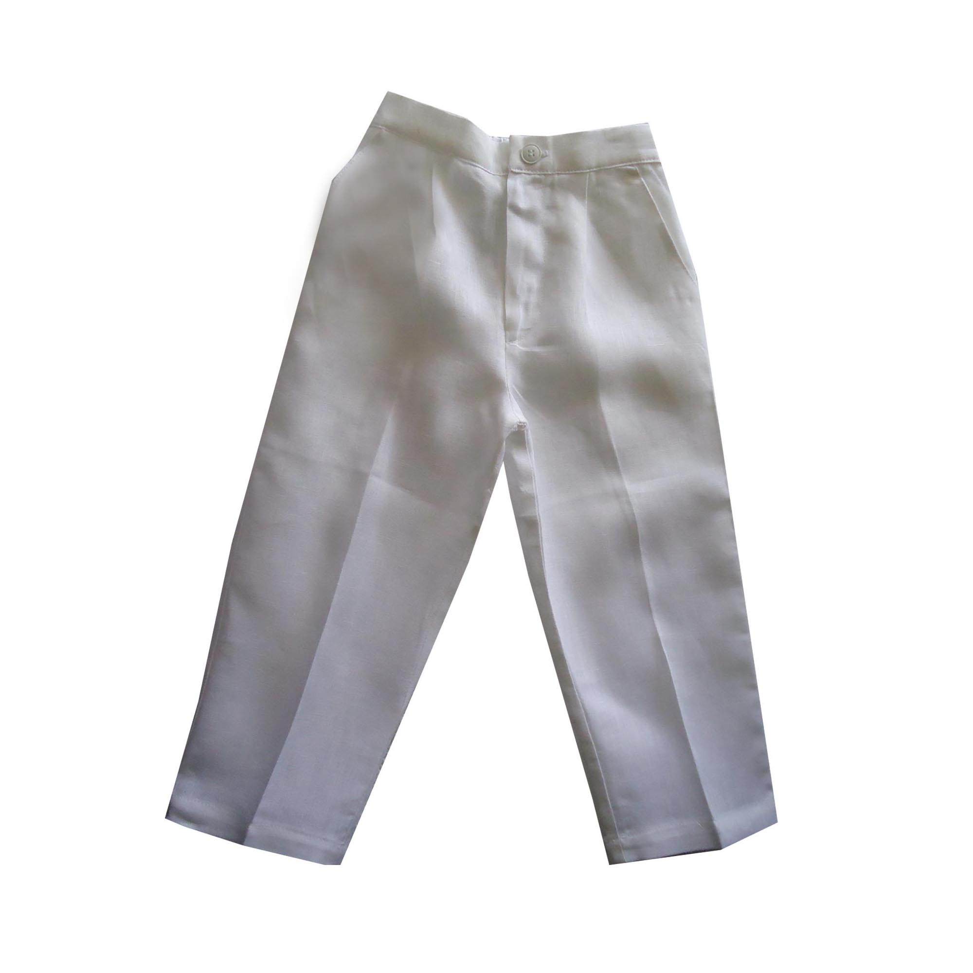 Boys linen pants in white by aby s kids