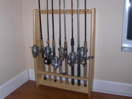 Rod racks tackletour for Vertical fishing rod holders