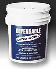 Dependable White Latex Liquid 1 Gallon Greenville