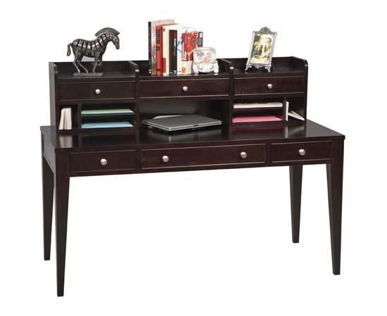 60 W Espresso Writing Desk W Hutch Woodworks Home Furnishings