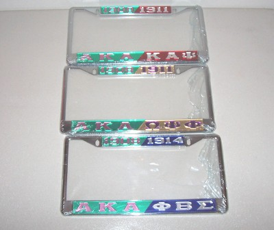 AKA & Fraternity License Plate Frames - Greeks R Us