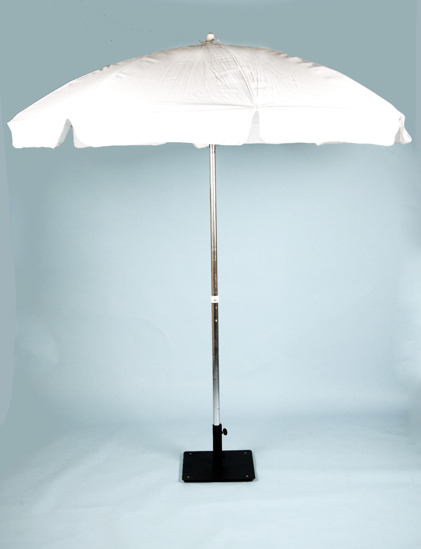 Umbrella, Scalloped Edge, White Vinyl, 7u0027 Diameter