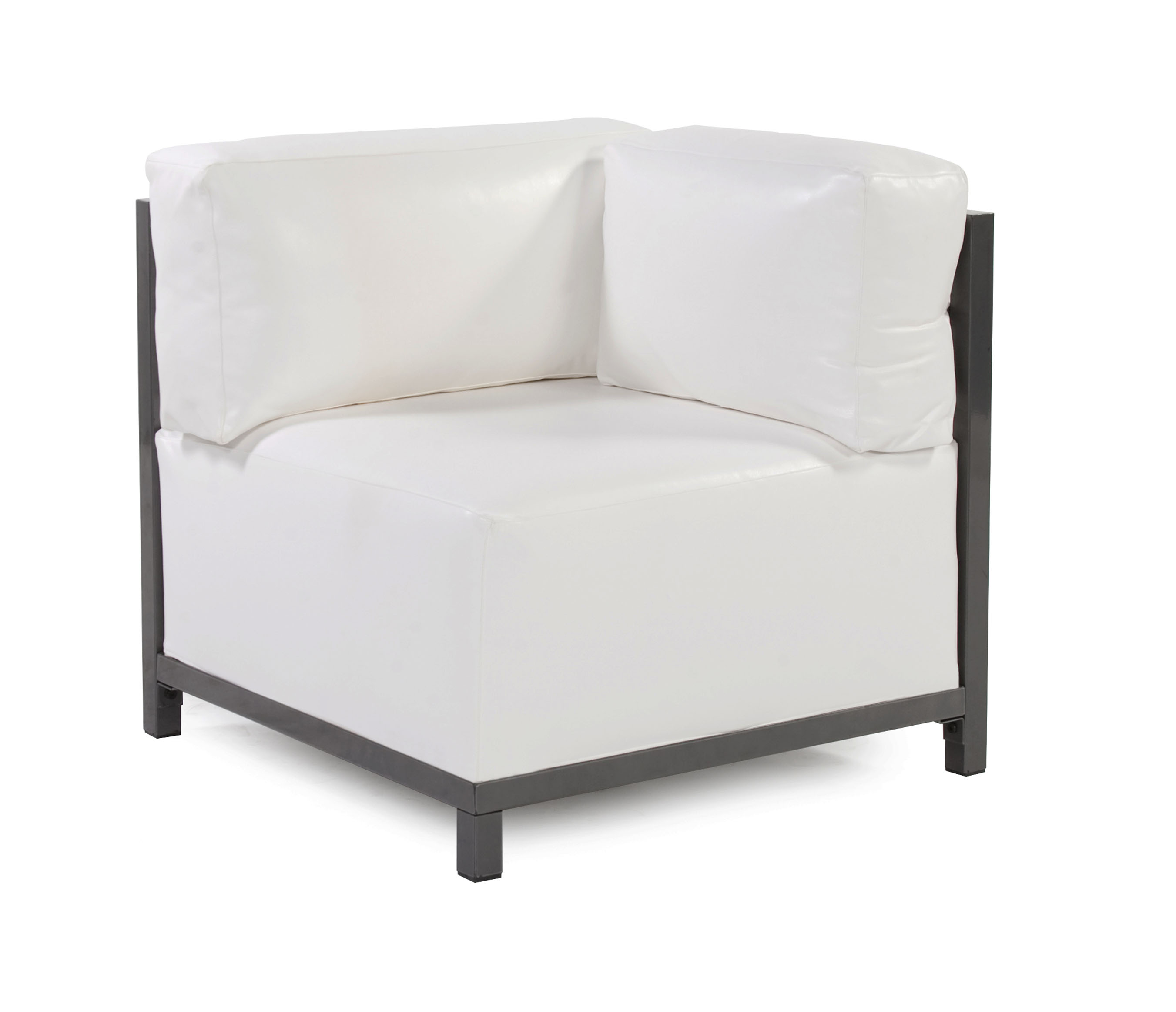 Lounge Chair Corner Atlantis White Vinyl Arizona Party Rental