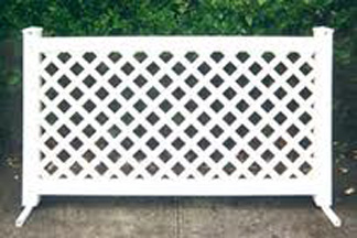 vinyl lattice fence panels. Exellent Vinyl Fencing White Vinyl Lattice Section On Fence Panels