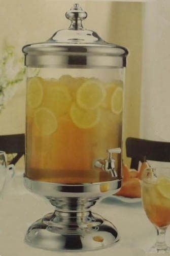 Beverage Dispenser Glass With Chrome Accents 2 5 Gal 24