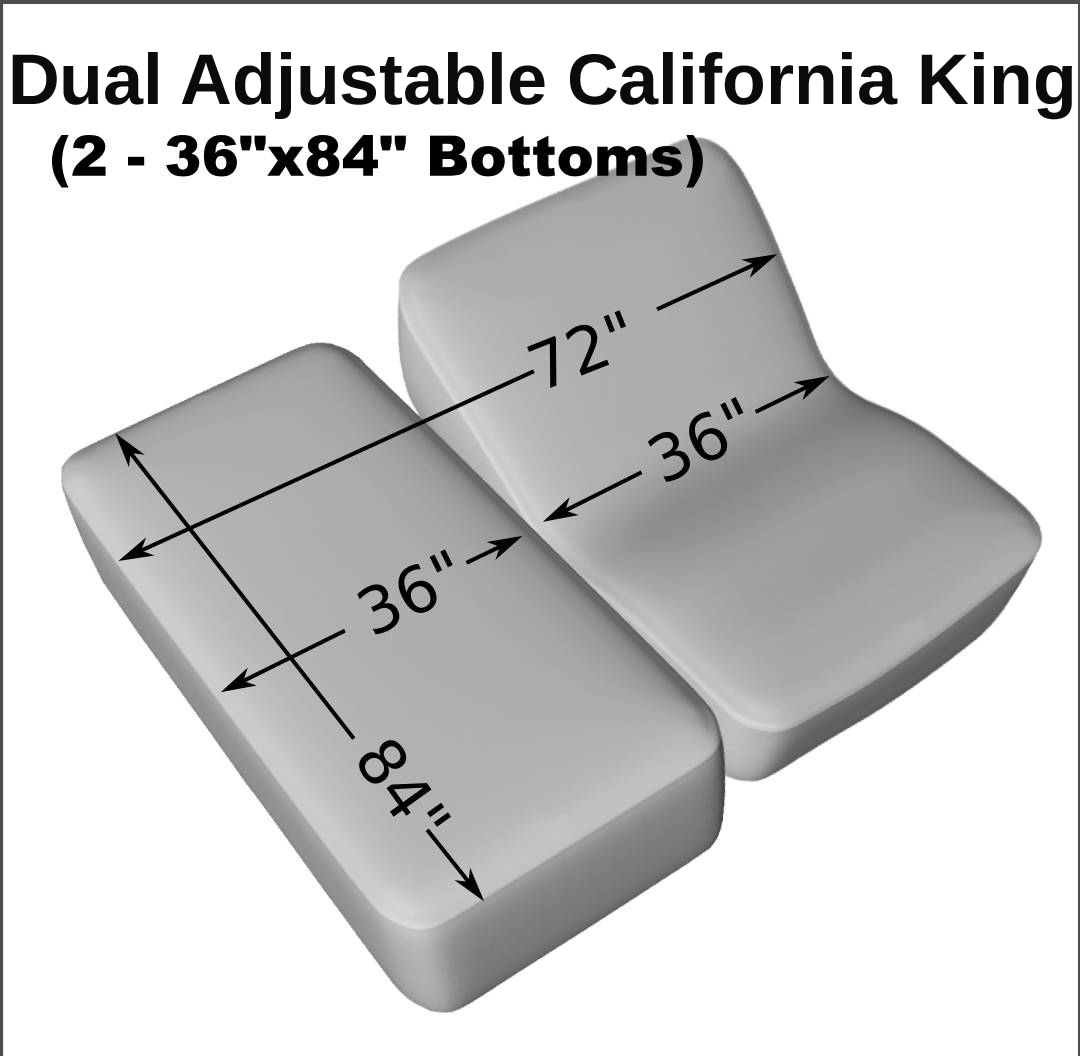 dual adjustable california king 2 36 x 84 cotton quilted mattress pad.
