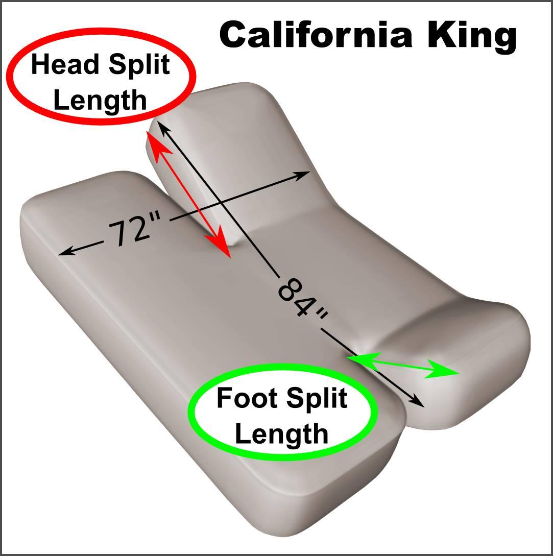 California King 72 Quot X 84 Quot Split Head And Foot Adjustable