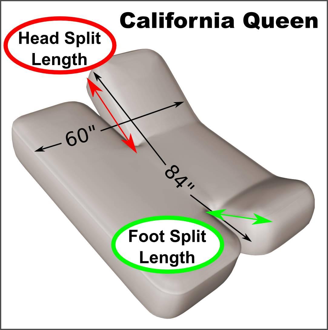 California Queen 60 Quot X 84 Quot Split Head And Foot Adjustable