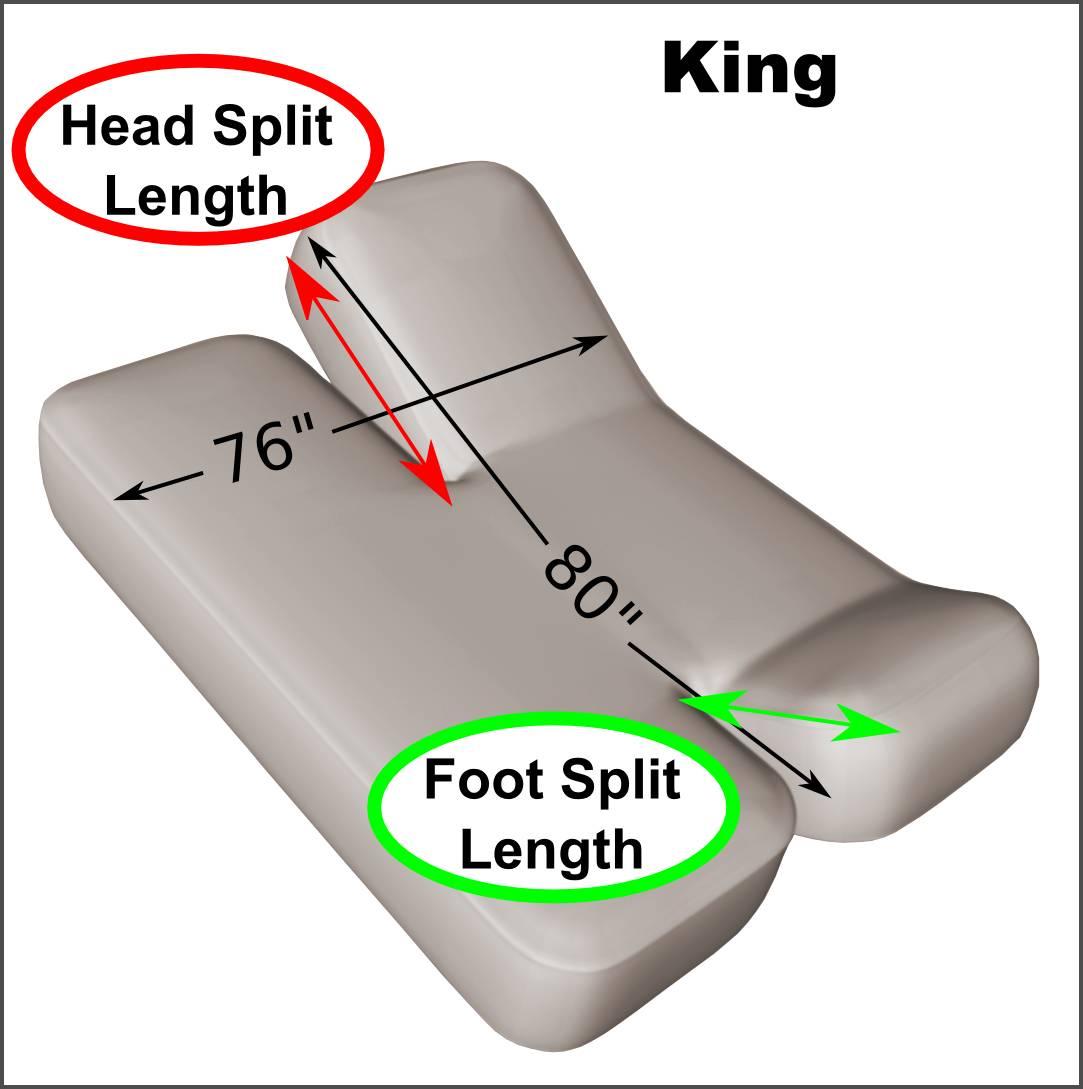 king adjustable split head and foot sheet set 200 thread count