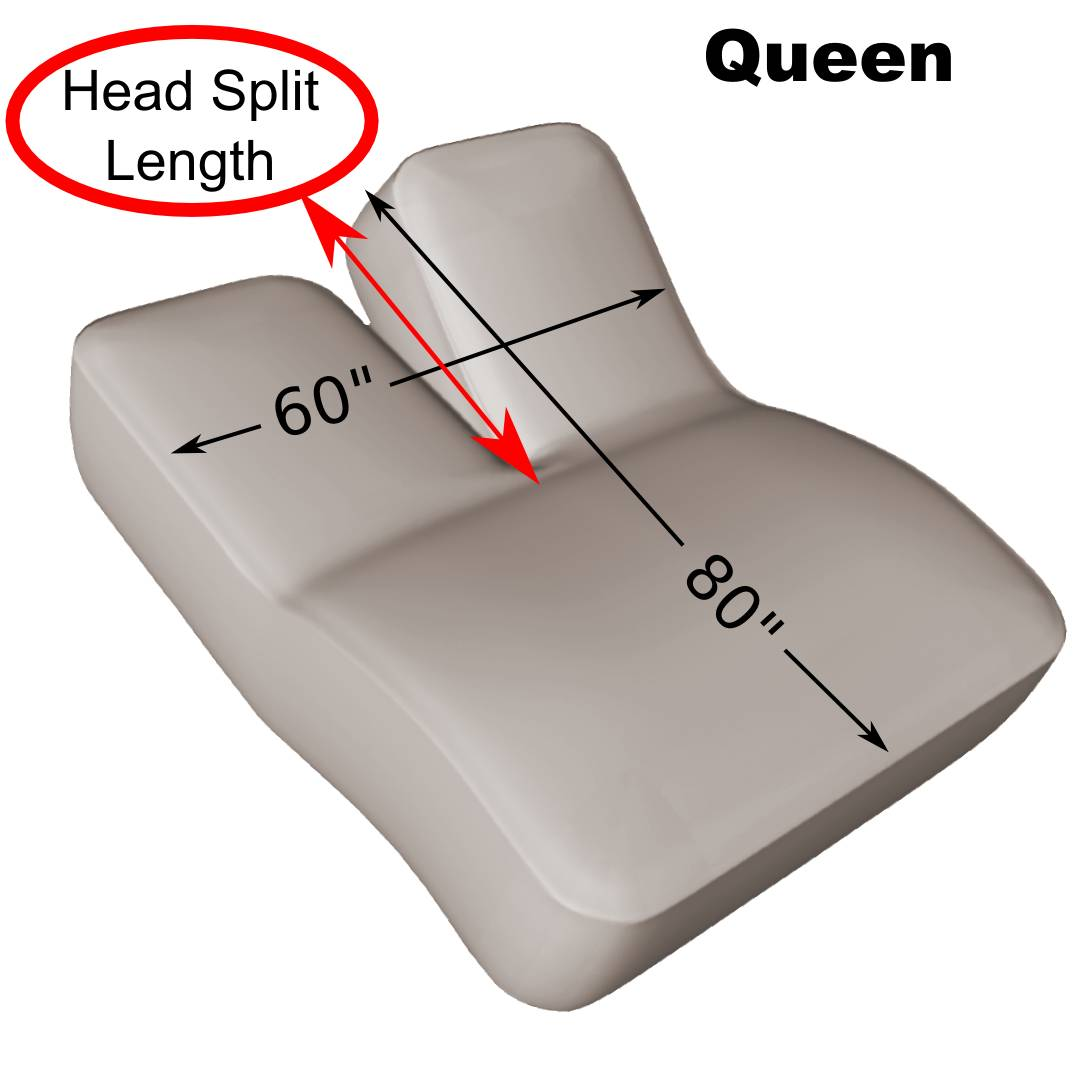 Queen 60 Quot X 80 Quot Split Head Adjustable Sheet Set 600 Thread