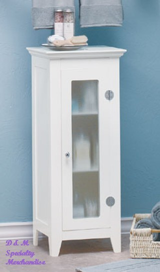 35012 narrow white cabinet with glass doors sharion 39 s treasures