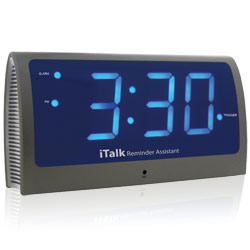 italk reminder assistant voice activated clock my vision aid inc. Black Bedroom Furniture Sets. Home Design Ideas
