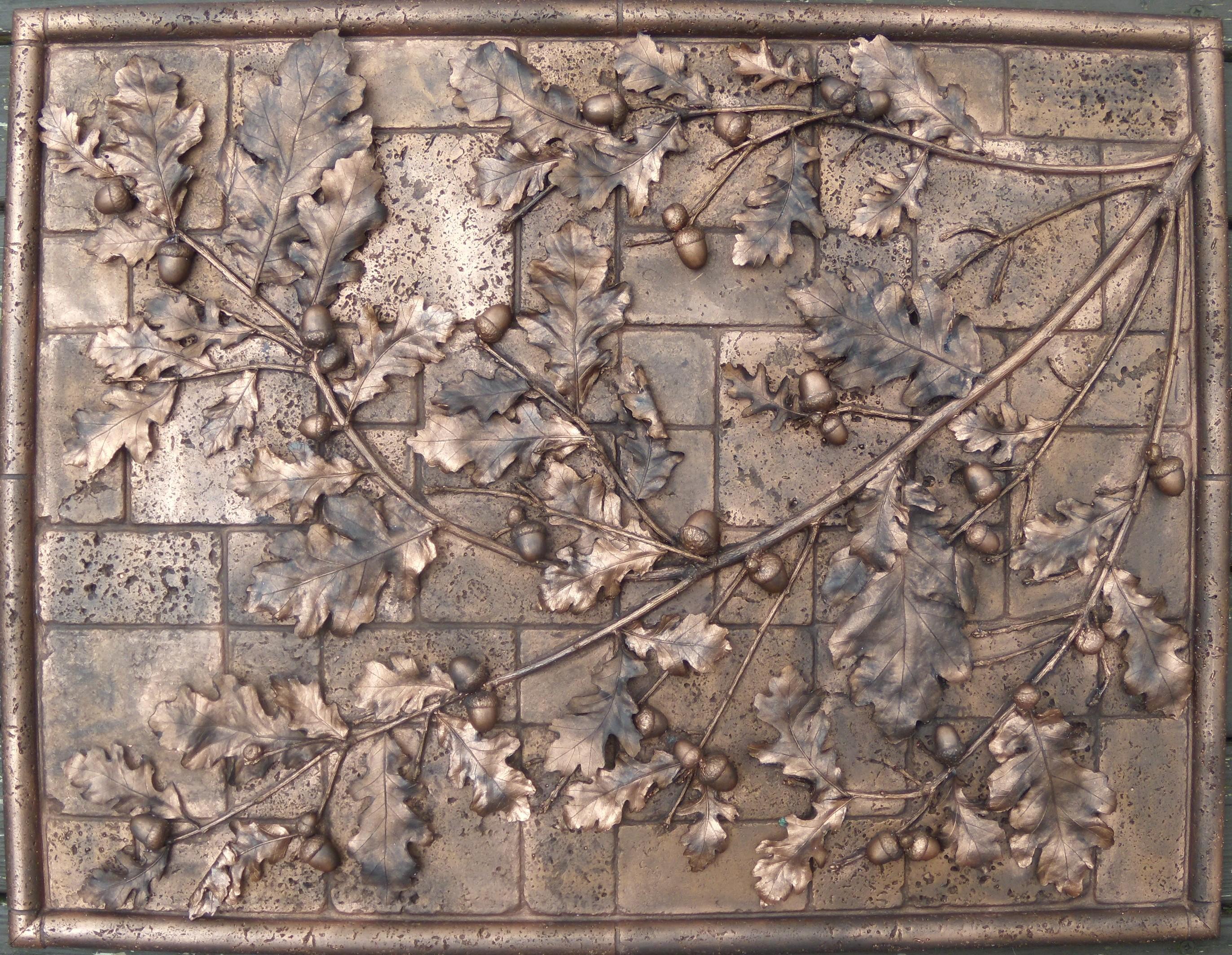 Acorn mural tile lost lake artistic tile for Backsplash mural