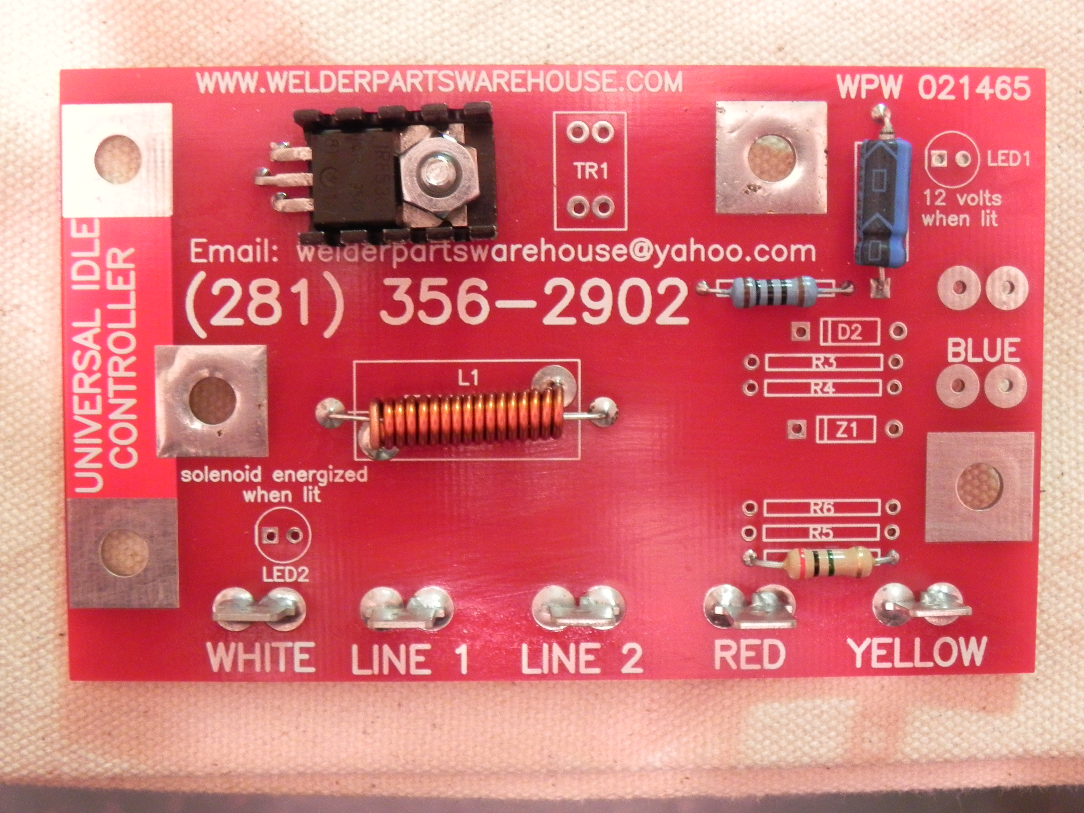 Sa 200 Universal Idle Controller Welder Parts Warehouse Lincoln Gas Tank