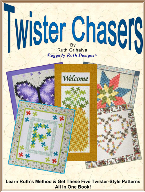 Twister Quilt Pattern Directions : 097B02 - Twister Chasers! - Raggedy Ruth Designs & Forever In Stitches Retail On-Line Store