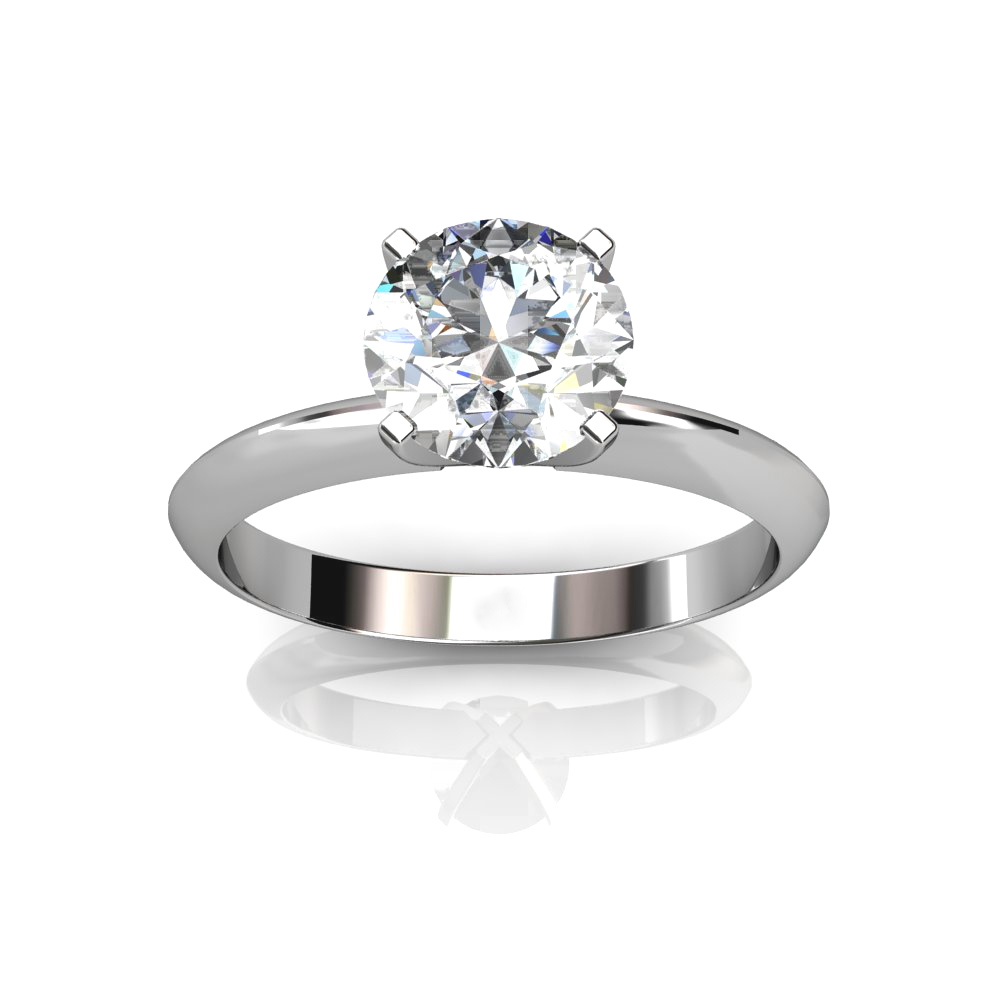 rings prong ring round setting solitaire abelini diamond engagement product