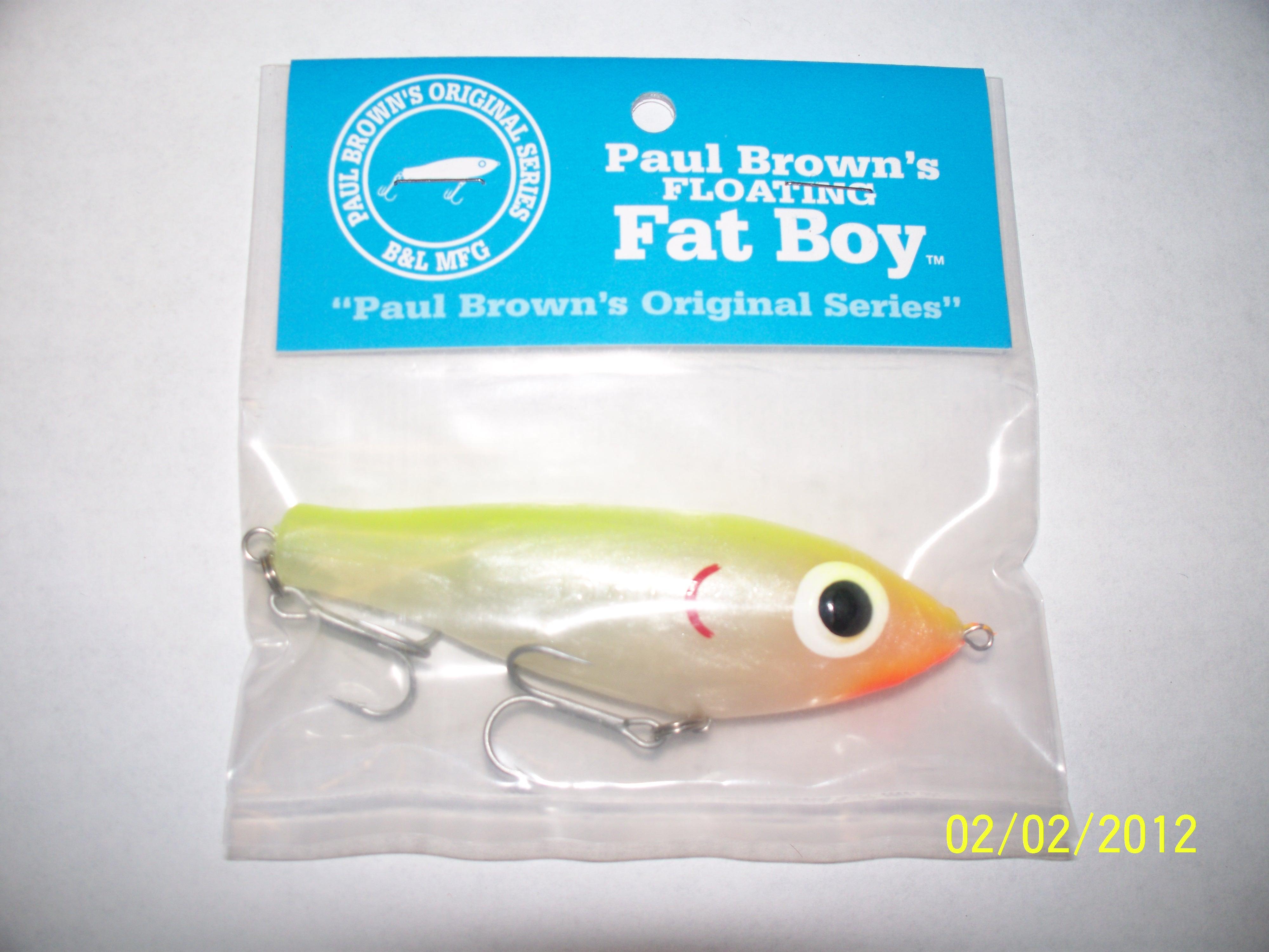 Paul Brown Original Fat Boy Fishing Bait Color-09