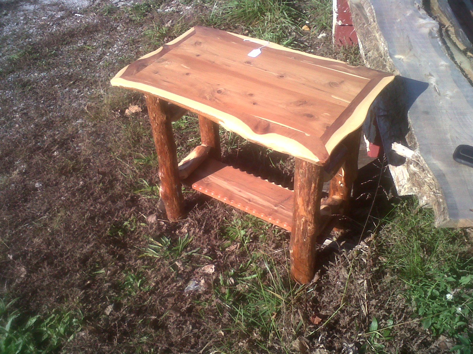 Log Cabin Style End Table Deep South Cedar Products Store
