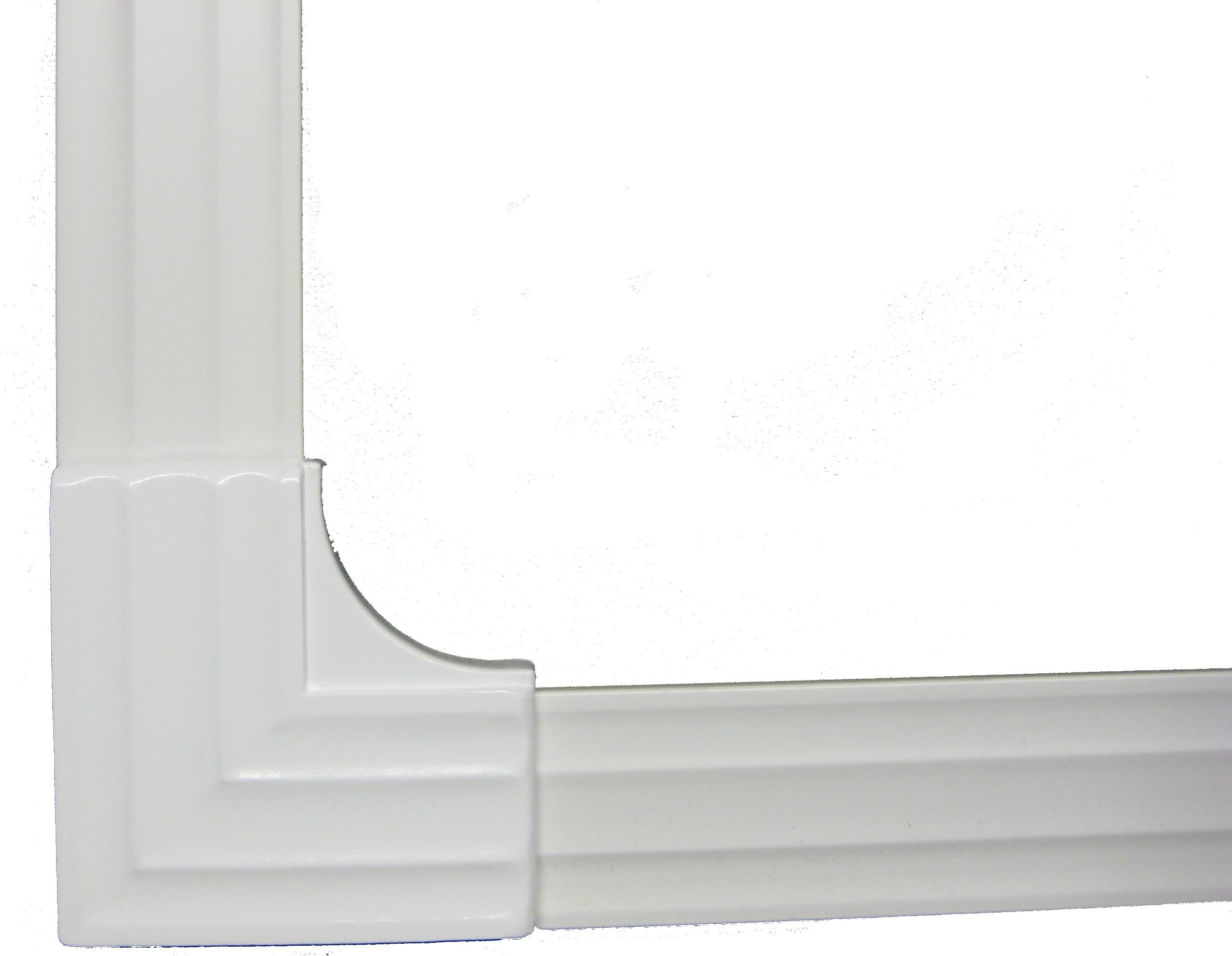 MirrEdge DIY Mirror Framing Kit - (Up to 75 in. x 36 in.) Dove White ...