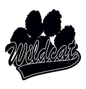 Black Wildcat Paw Print - Tattoo Bubble Gum