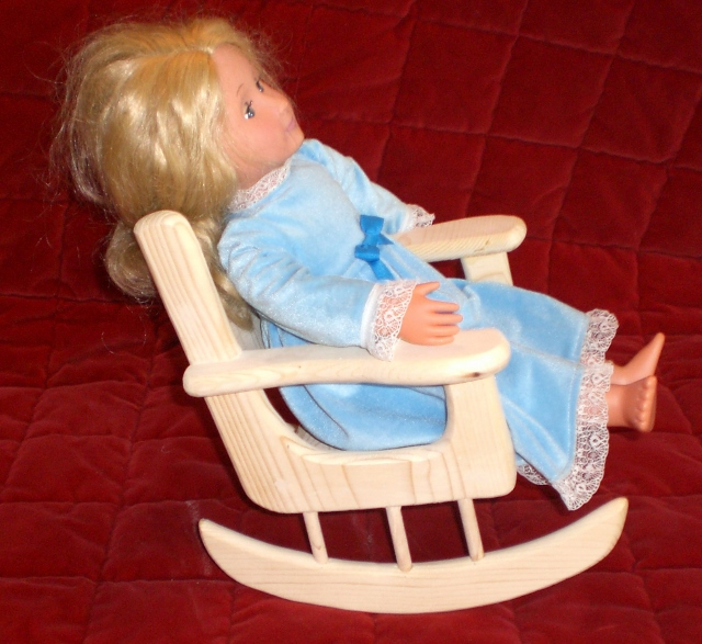 Unfinished Rocking Chair For American Girl Size Doll