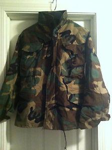 3f1c7713b67 USGI M-65 Field Jacket XSMALL SHORT Woodland Camo BDU Cold Weather Army Coat