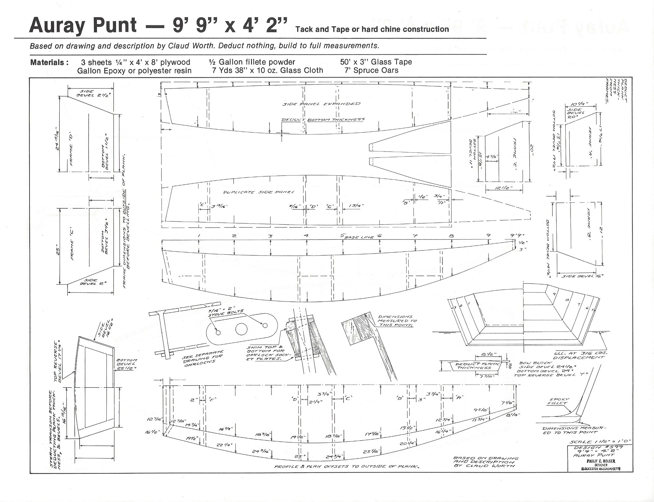 "Auray Punt - 9'-9"" x 4'-2"" - H.H. Payson and Company"