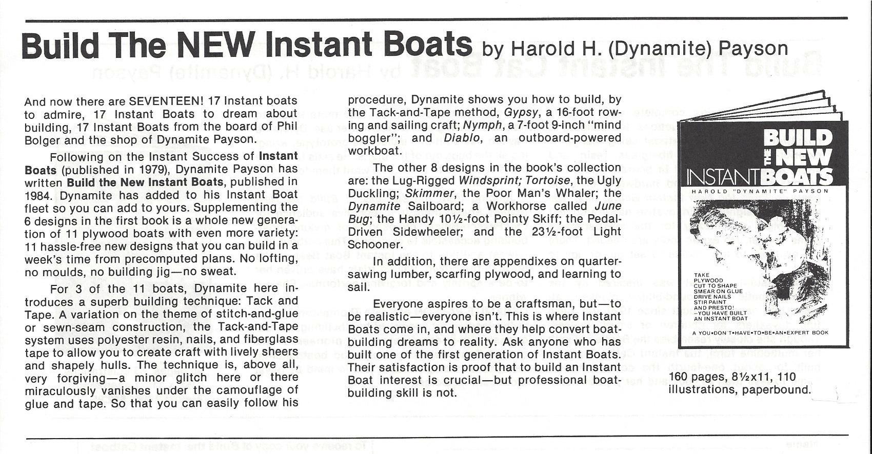 Build The New Instant Boats : Build the new instant boats h payson and company