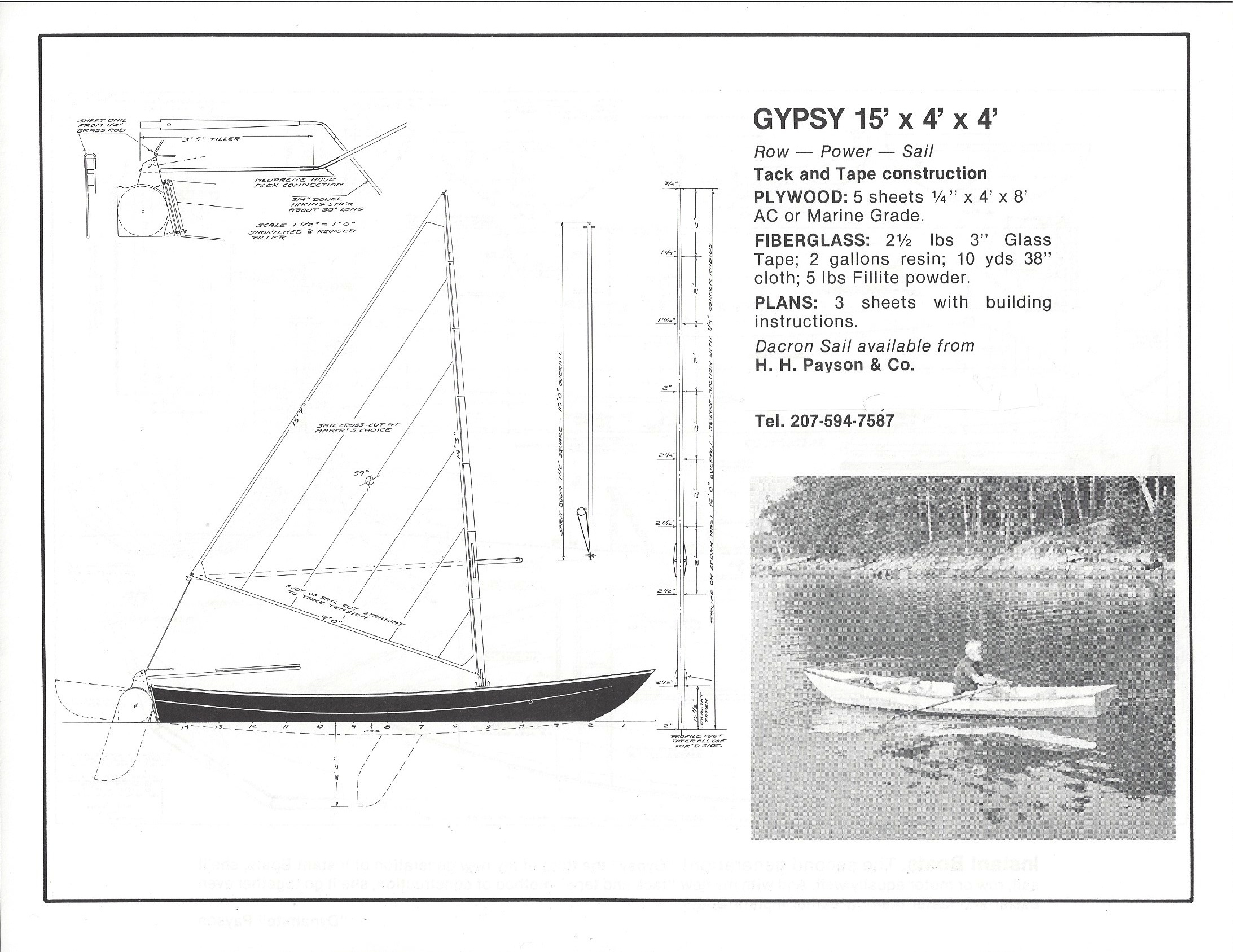 Dynamite Payson Boat Plans : Gypsy  quot h payson and company