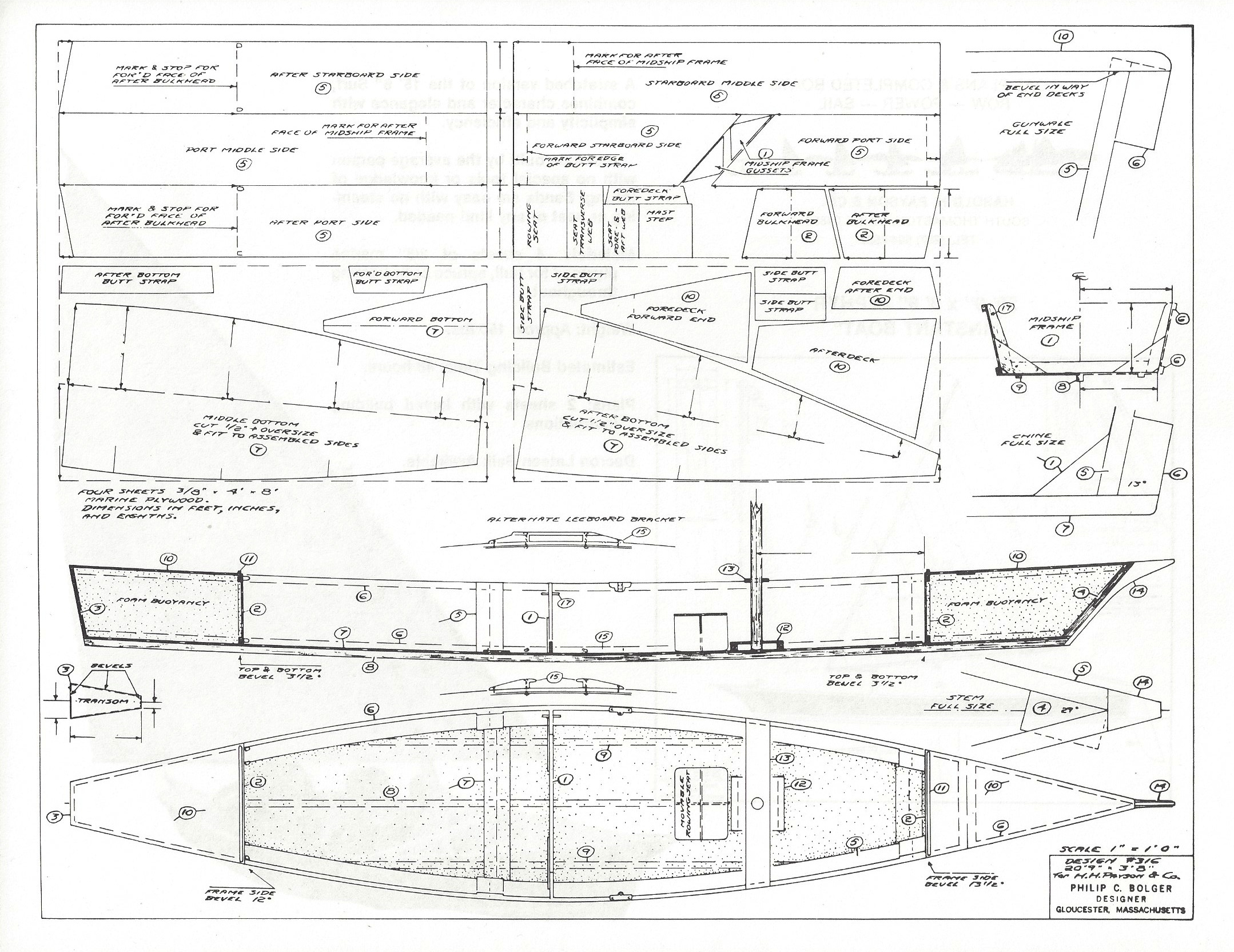 Dynamite Payson Boat Plans : Zepher quot  h payson and company