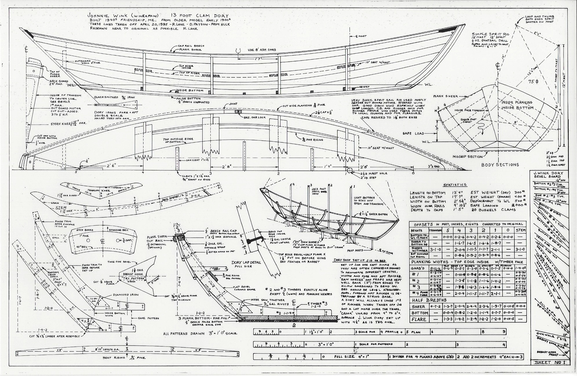 Dynamite Payson Boat Plans : Friendship clam dory h payson and company