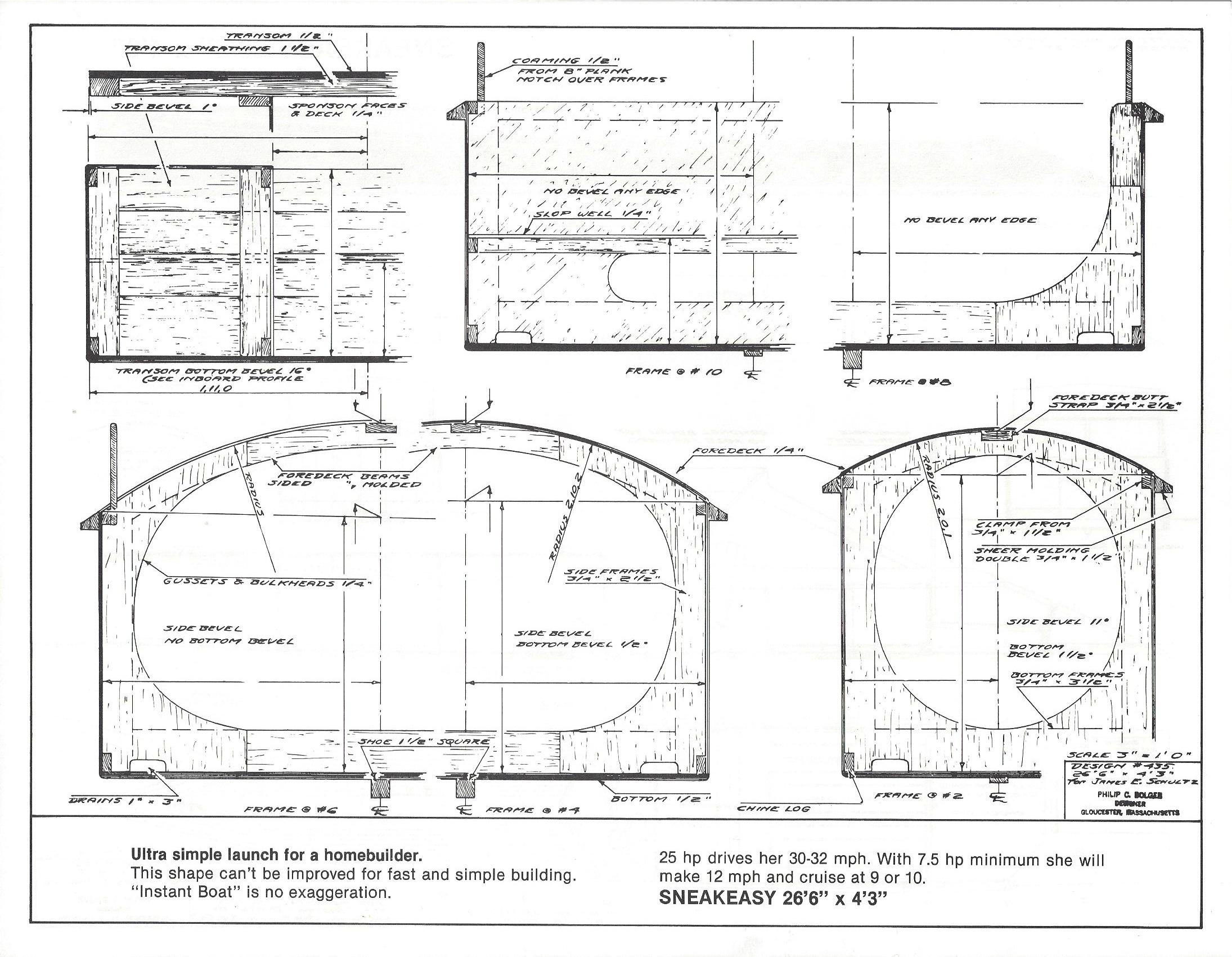 Dynamite Payson Boat Plans : Sneakeasy quot  h payson and company