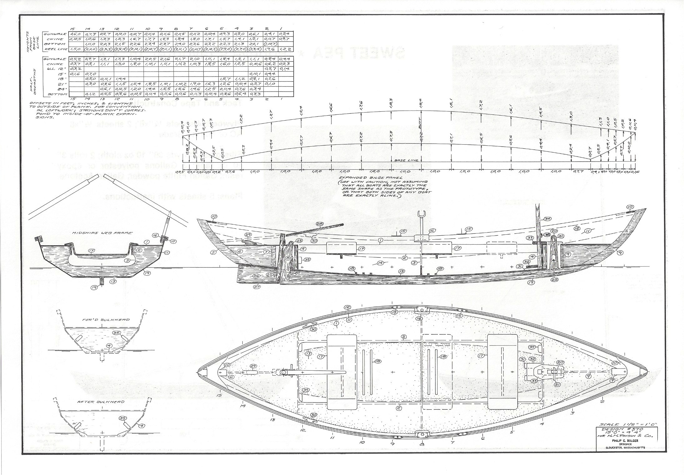 Dynamite Payson Boat Plans : Sweet pea quot  h payson and company