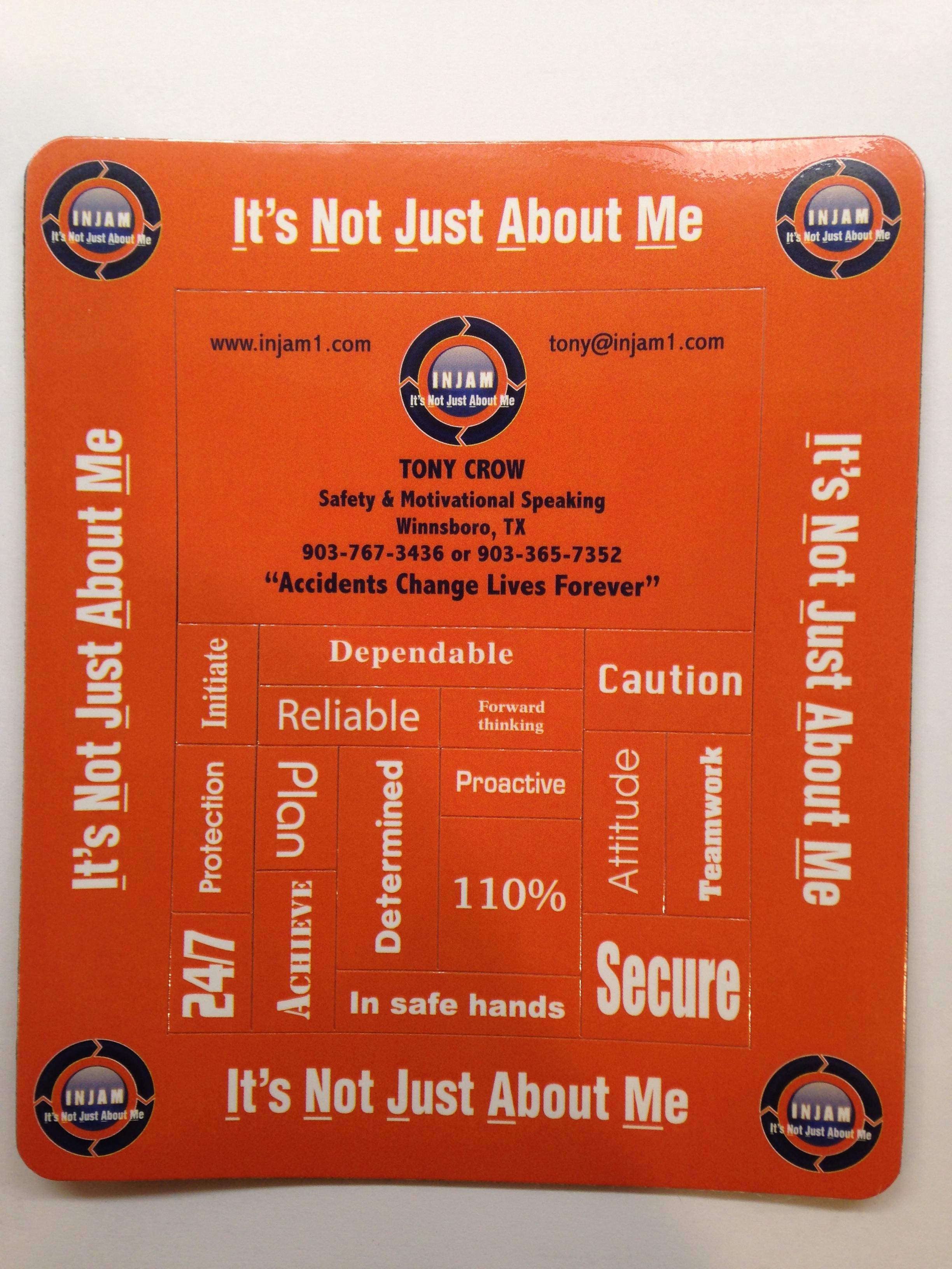 INJAM Magnetic business card & word art - INJAM