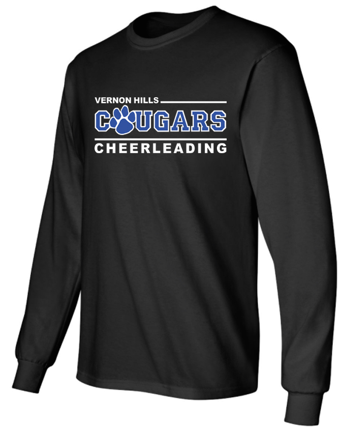 Vhhs cheerleading 2016 long sleeve t shirt designs Cheerleading t shirt designs
