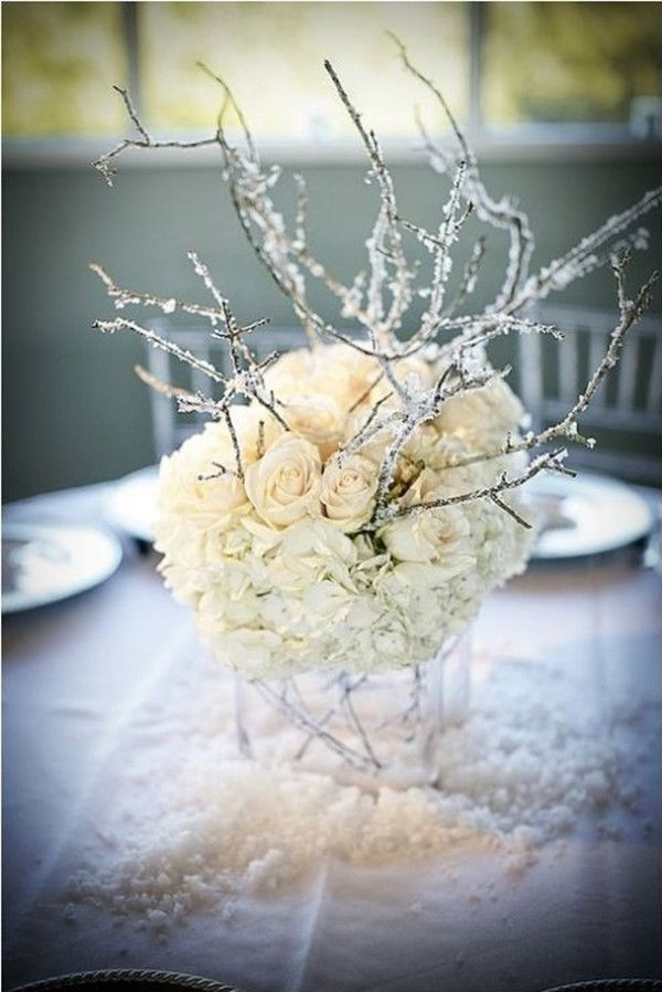 Amazing Icicle Birch Branches to create a Fairy Tale Centerpiece ...
