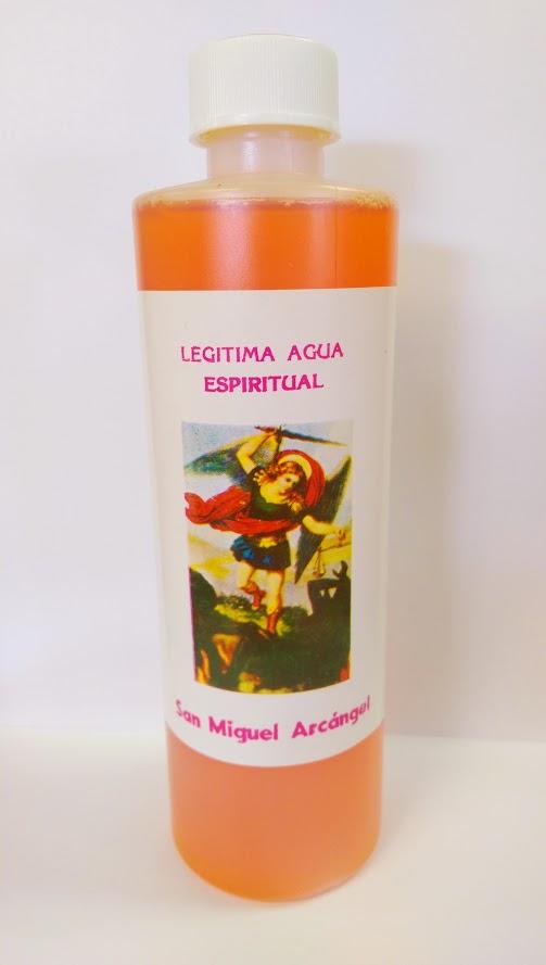 55be50df750 San Miguel Arcangel agua - St. Michael Archangel water 32 oz ...