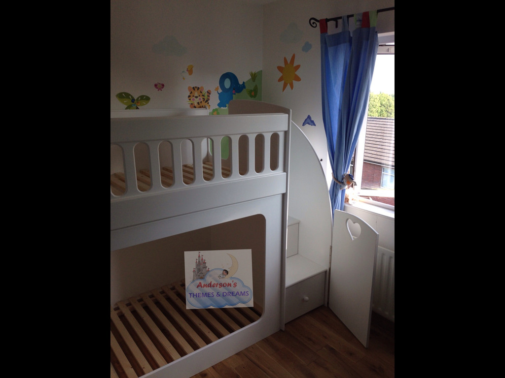 Bunk Beds With Drawer Stairs Stair Gate Attached Andersons Themes