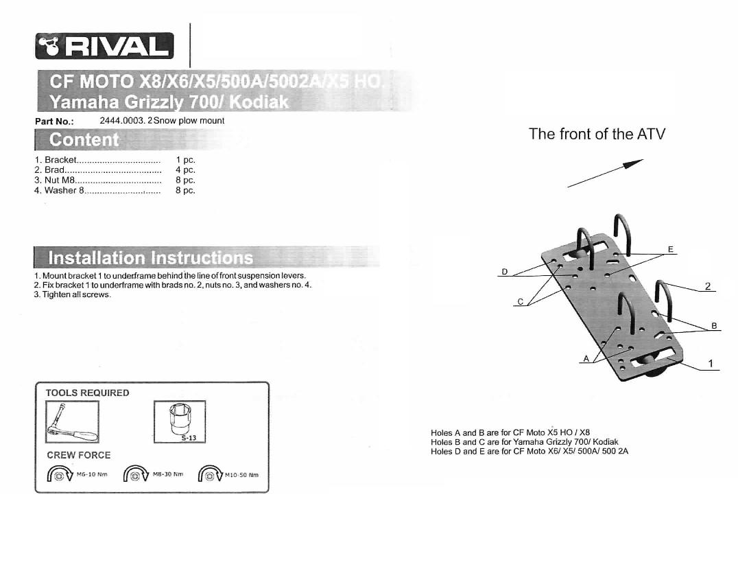 Snow Plow Mounting For Yamaha Grizzly 700 Kodiak Auto Product Wiring Diagram Eps